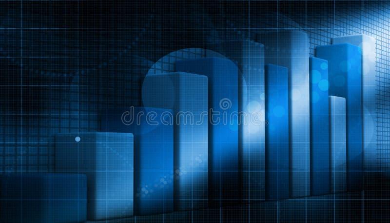 3d biznesowy wzrostowy wykres ilustracji