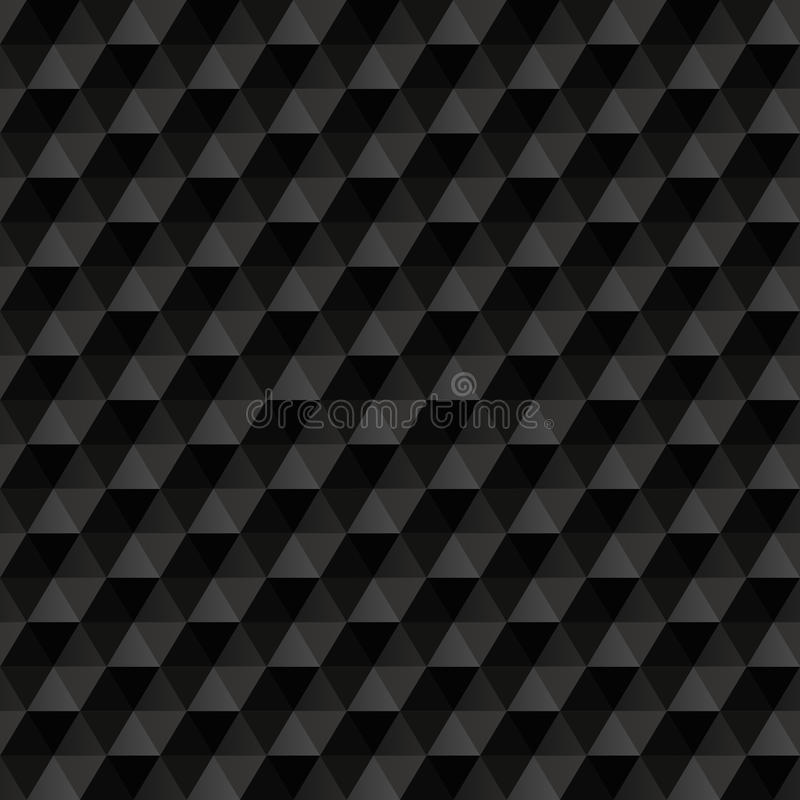 3d black abstract background. Geometric seamless vector illustration
