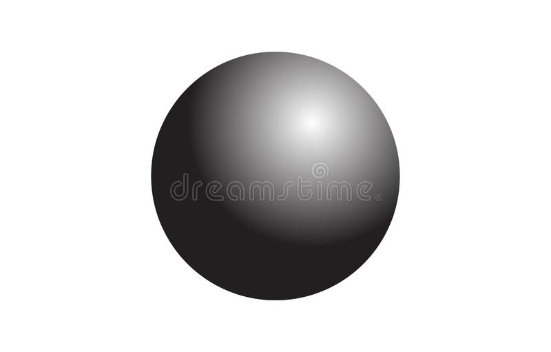 3d black ball sphere isolated on a white background royalty free illustration