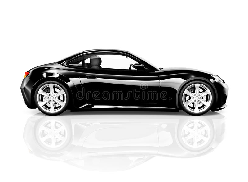 Download 3D Black Sport Car On White Background Stock Image   Image Of  Lifestyle, Background