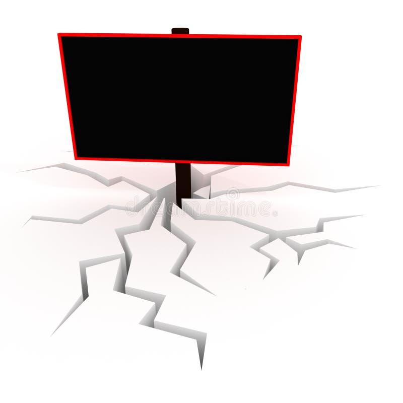 3D blank black billboard vector illustration
