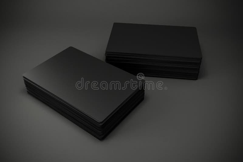 3d blank black business cards stock illustration illustration of download 3d blank black business cards stock illustration illustration of branding element 54253917 colourmoves