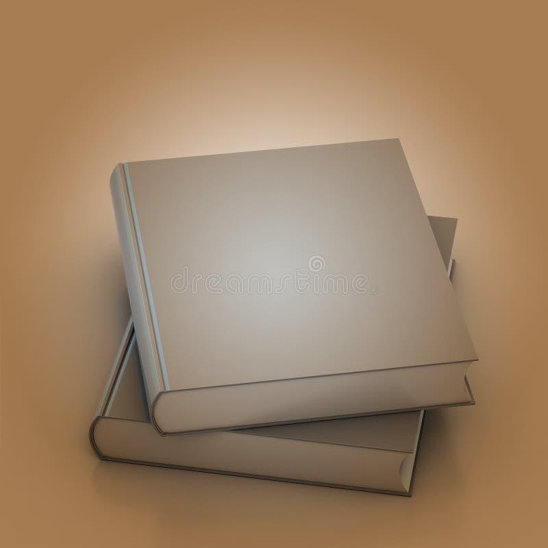 3d Blank book cover over white background stock illustration