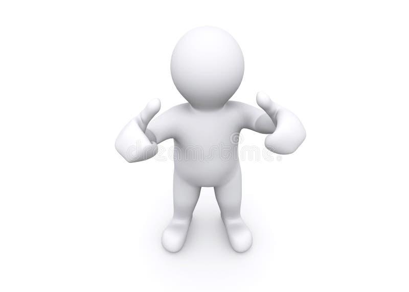 Download 3d Blank Figure Thump Up, Say Yes, Success. Stock Illustration - Illustration of finger, smile: 49771355