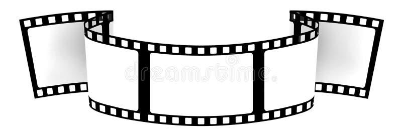 Download 3d Blank Film Banner Stock Illustration Of