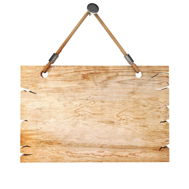 3d blank wooden sign board stock illustration