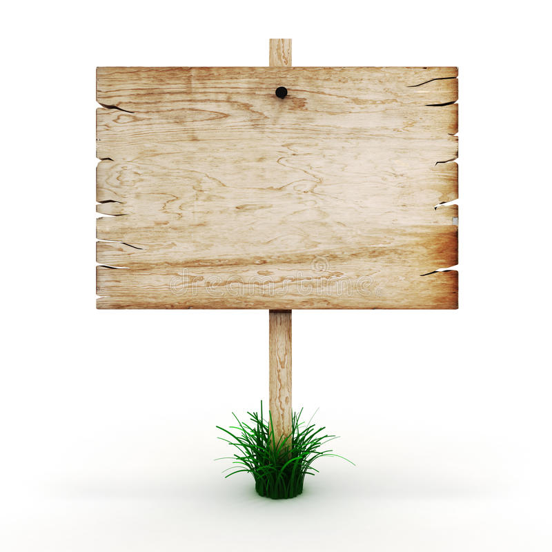 3d blank wooden sign board royalty free stock image