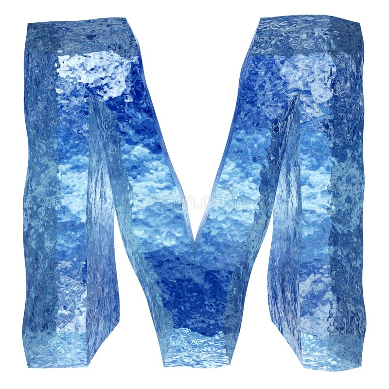 3D blauwe water of ijsdoopvont vector illustratie