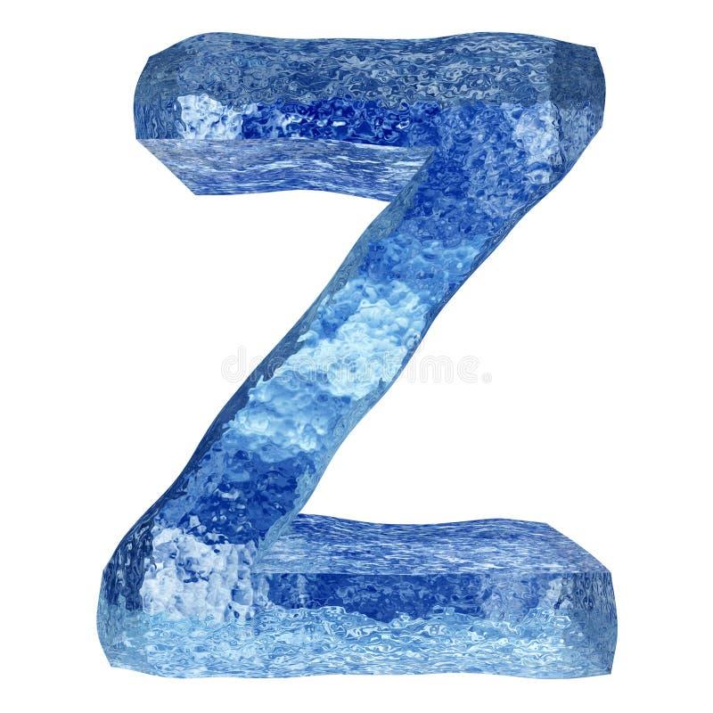 3D blauwe water of ijsdoopvont royalty-vrije illustratie