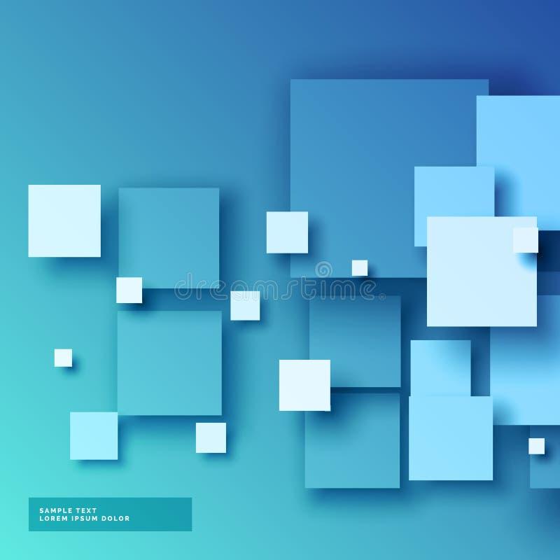 3d bleu ajuste le fond illustration libre de droits