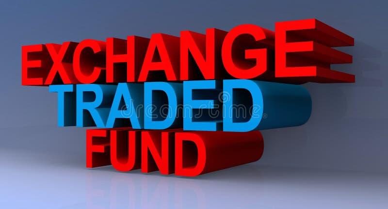 Exchange traded fund illustrated stock illustration