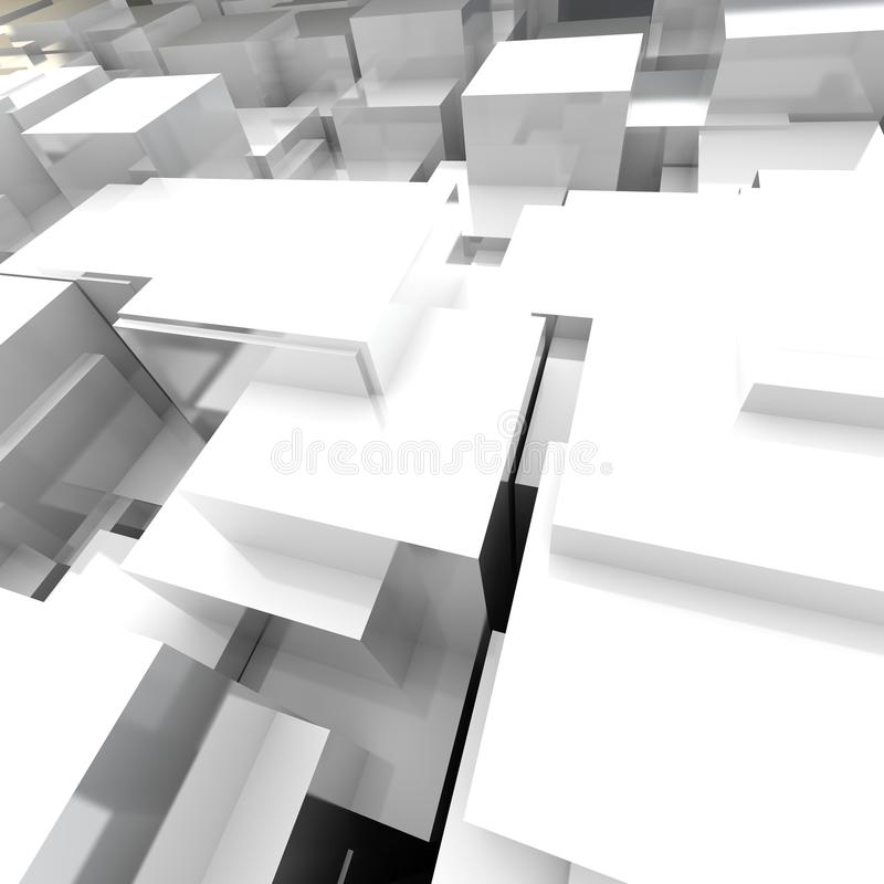 3D blockt Hintergrund lizenzfreie abbildung