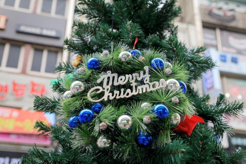 3d bożych narodzeń dekoracj ilustraci drzewo obraz stock