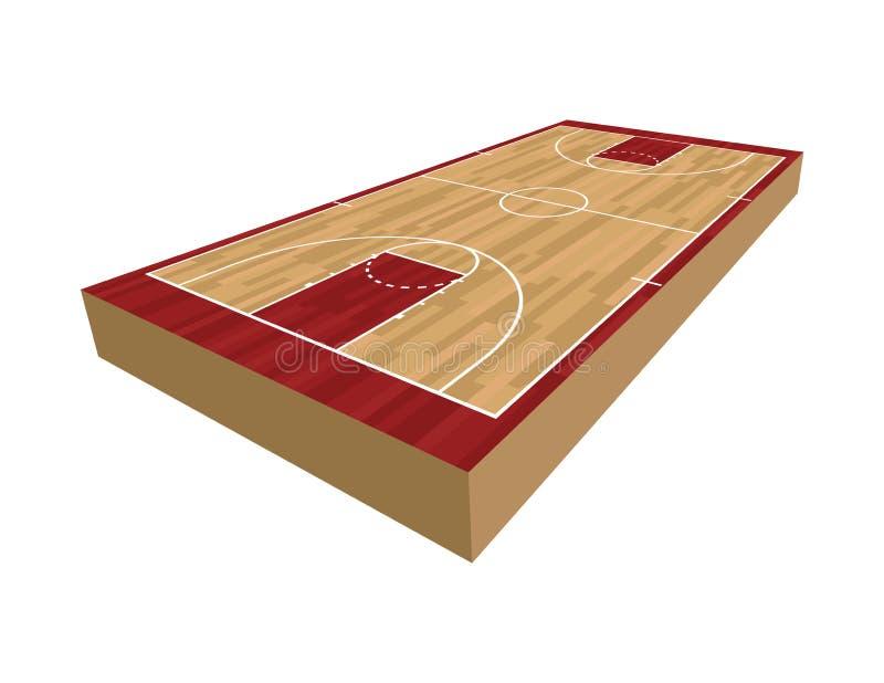 3D boisko do koszykówki ilustracja ilustracja wektor
