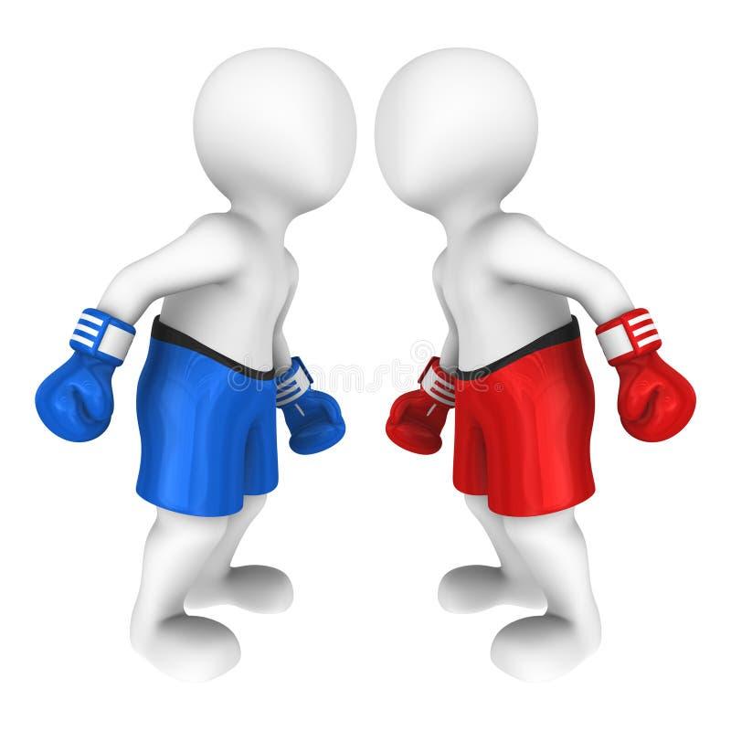 3d bokserów spojrzeń oko ono przyglądać się ilustracja wektor