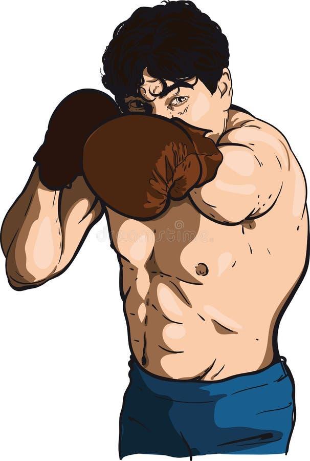 3 d boksu człowiek abstrakcyjne model ilustracji