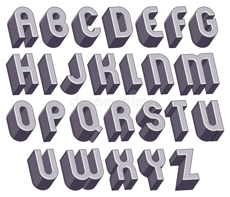 This is a graphic of Punchy Large Font Letters