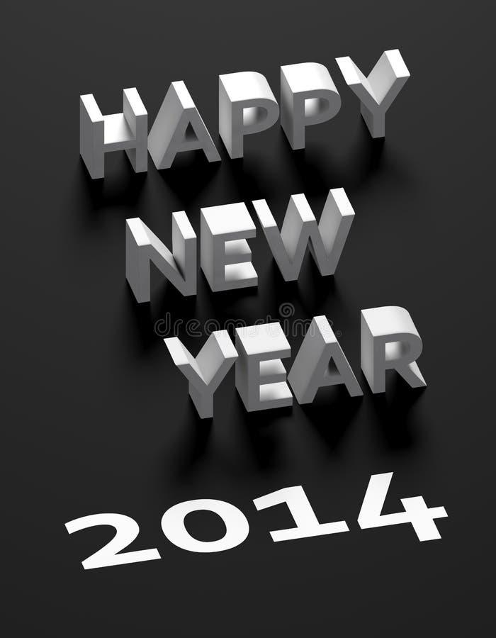 3d bonne année 2014 illustration libre de droits
