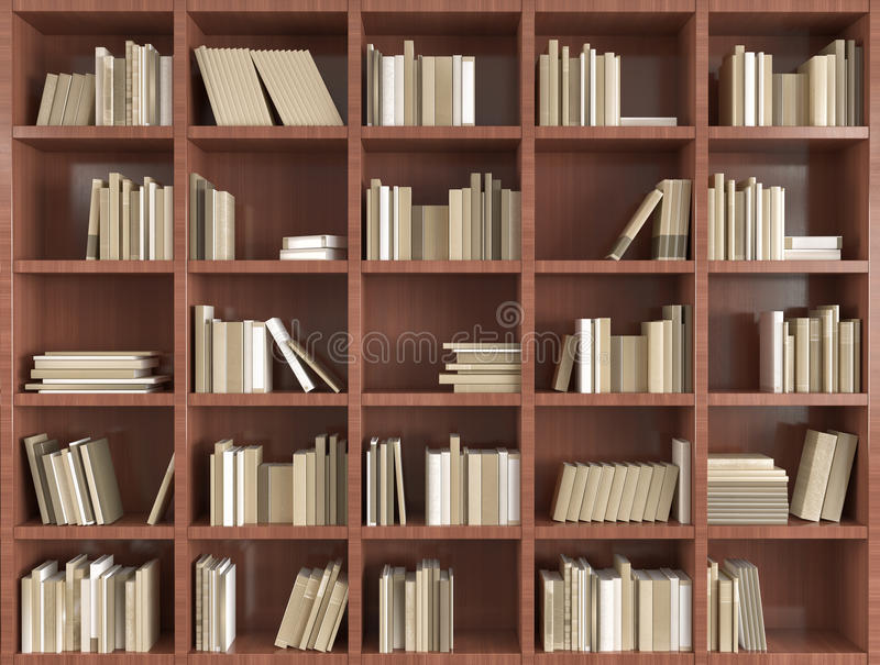 Download 3d bookshelf stock image Image of