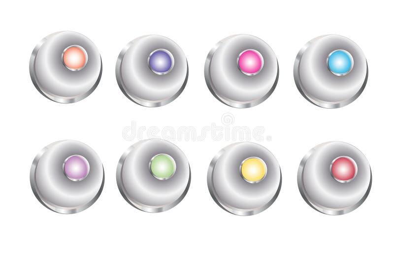 3D botão Bell ilustração royalty free