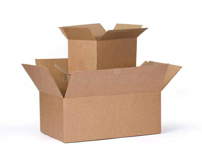 3d boxes papp frambragd bild royaltyfri fotografi