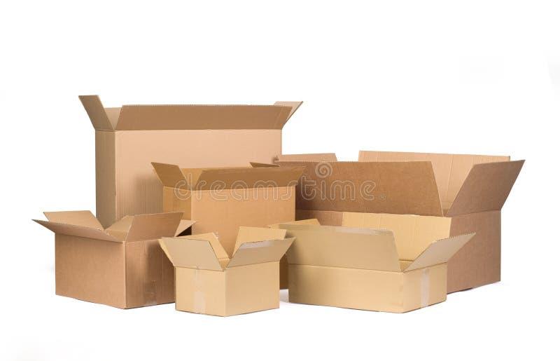 3d boxes papp frambragd bild royaltyfria bilder