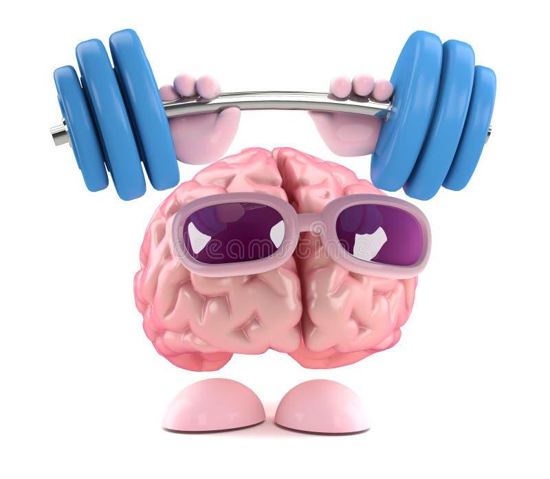 3d Brain strength vector illustration