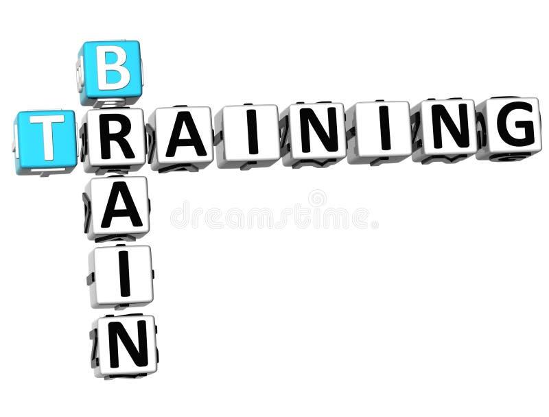 3D Brain Training Crossword illustration libre de droits