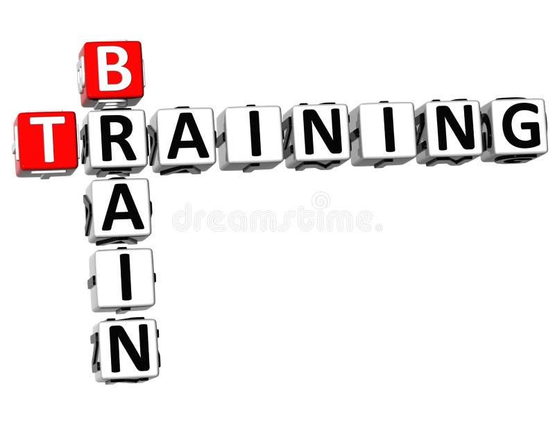 3D Brain Training Crossword illustration de vecteur
