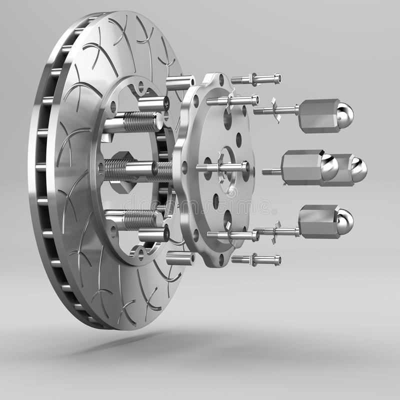 3d brake. royalty free illustration