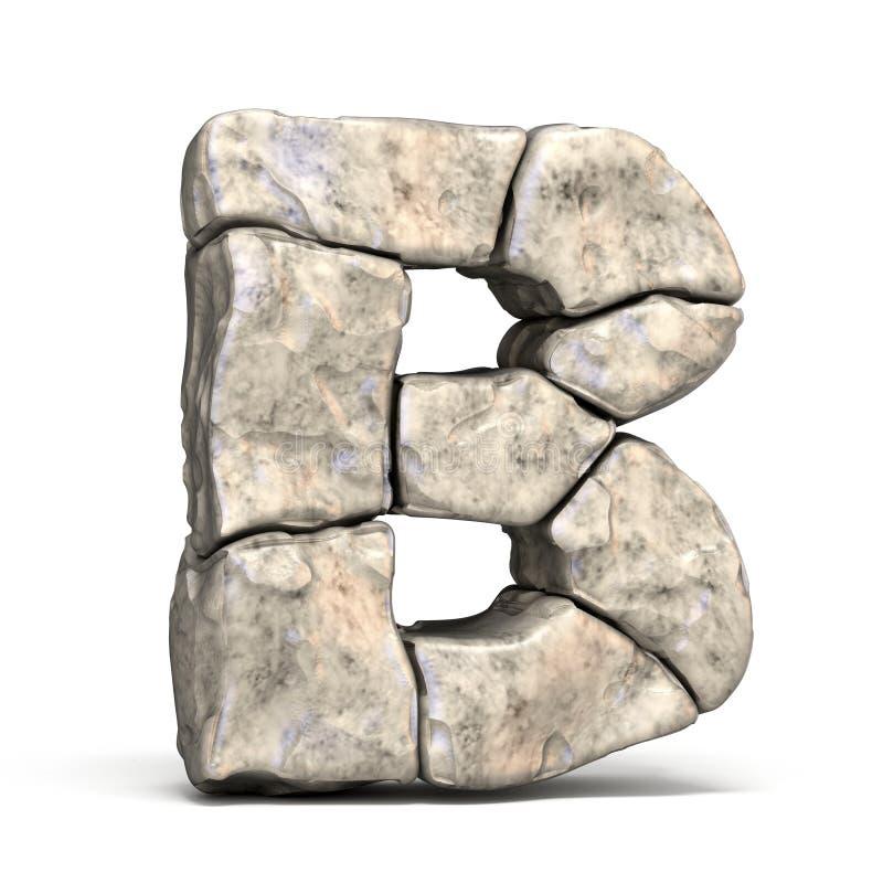 3D brief B van de steendoopvont