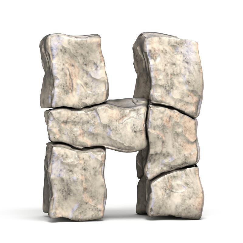 3D brief H van de steendoopvont