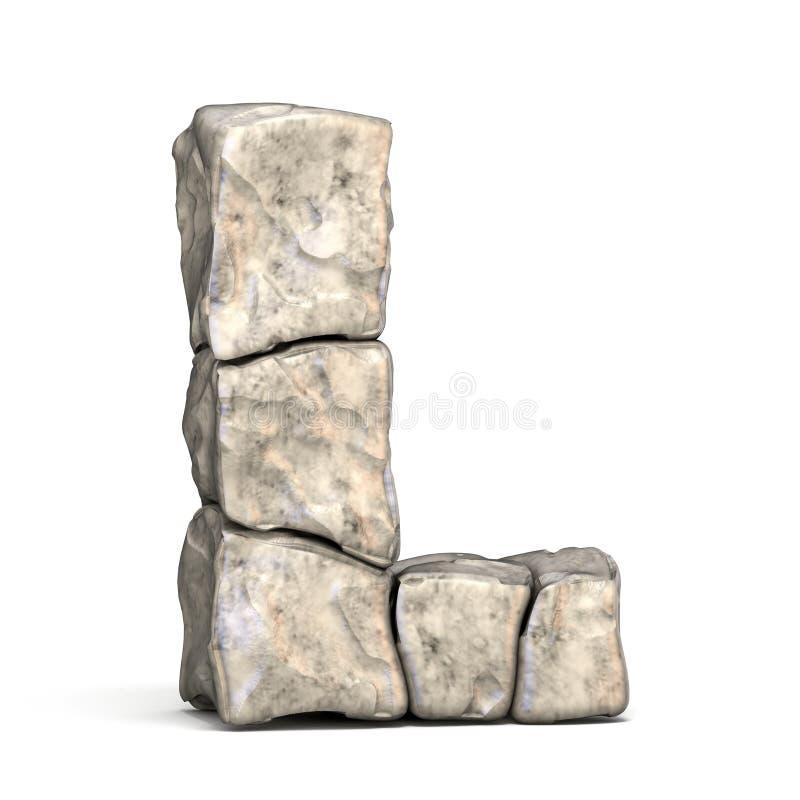 3D brief L van de steendoopvont