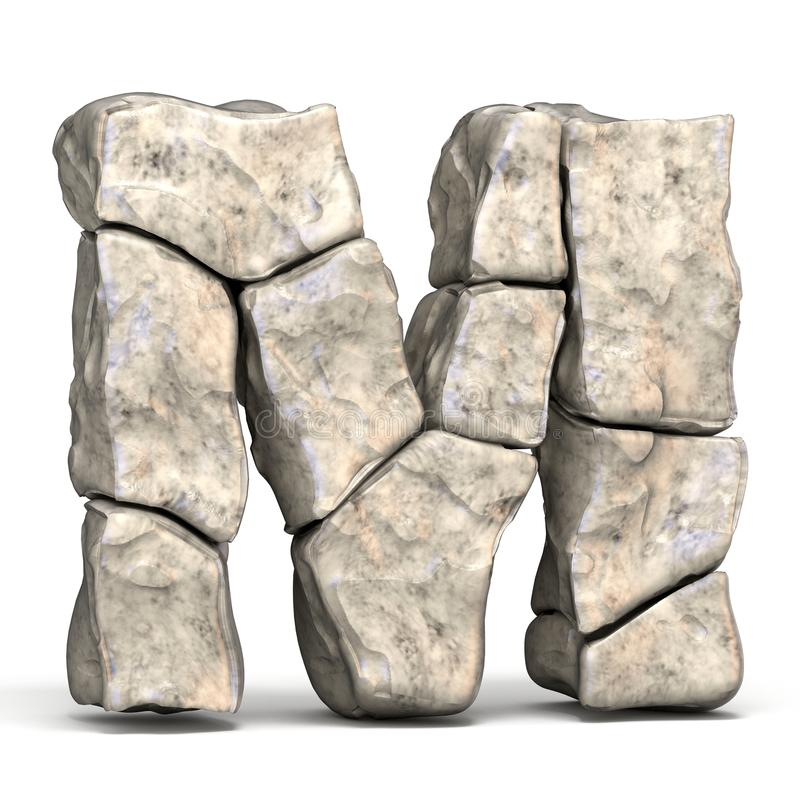 3D brief M van de steendoopvont