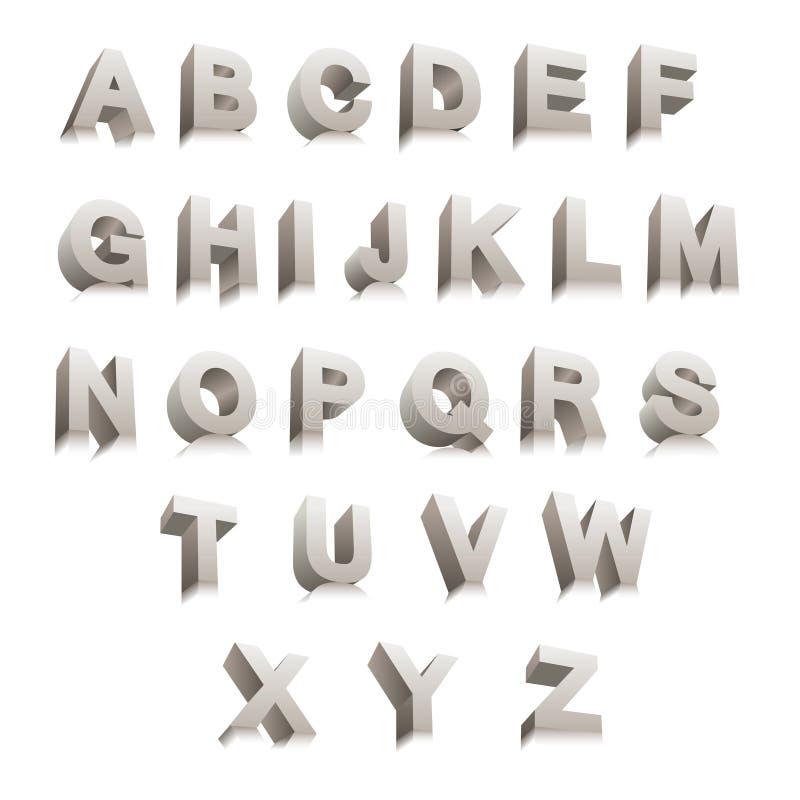 3D brieven stock illustratie