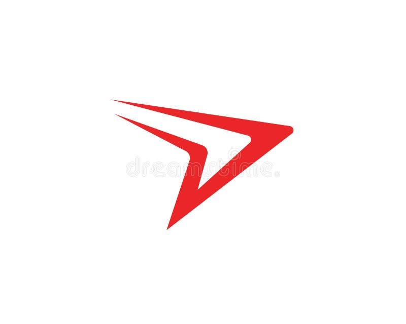 D-Buchstabe schnellerer Logo Template lizenzfreie abbildung