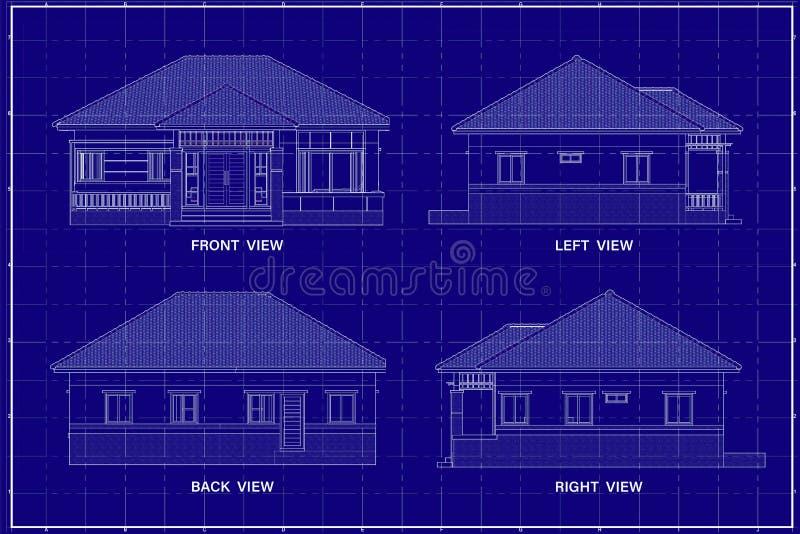 3D budynek na projekcie zdjęcie royalty free