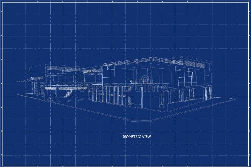 3D budynek na projekcie zdjęcia royalty free
