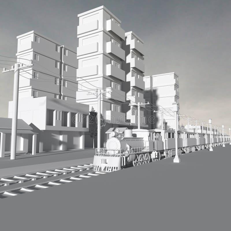 3 d budynków royalty ilustracja