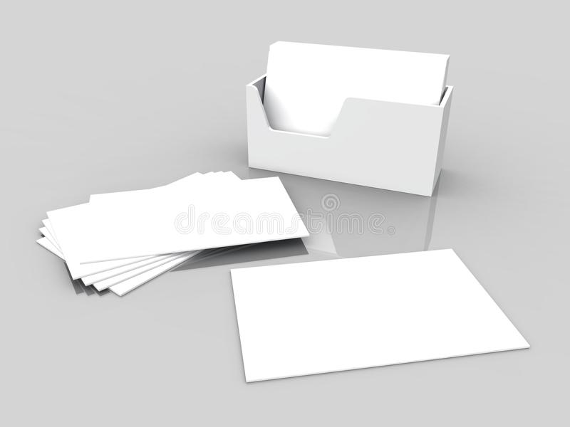 3D business cards and box stock illustration. Illustration of card ...