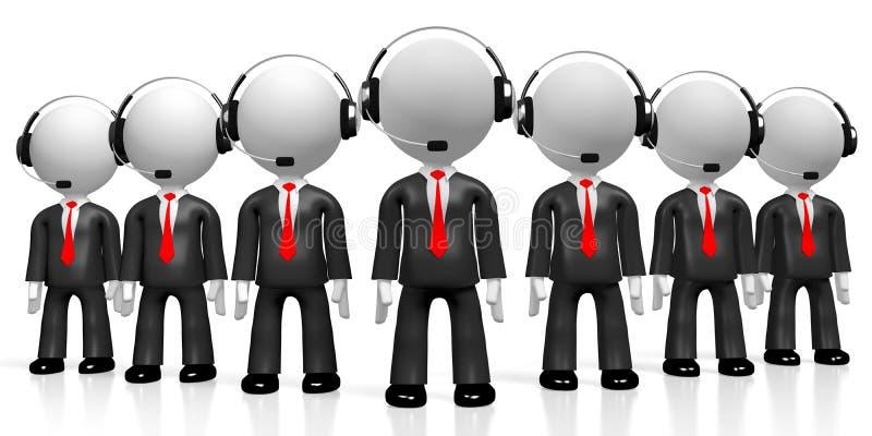 3D businessmen - call center concept royalty free illustration
