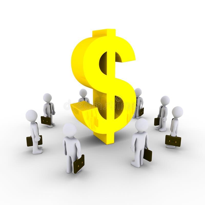 Businessmen Admiring Dollar Symbol Royalty Free Stock Photos