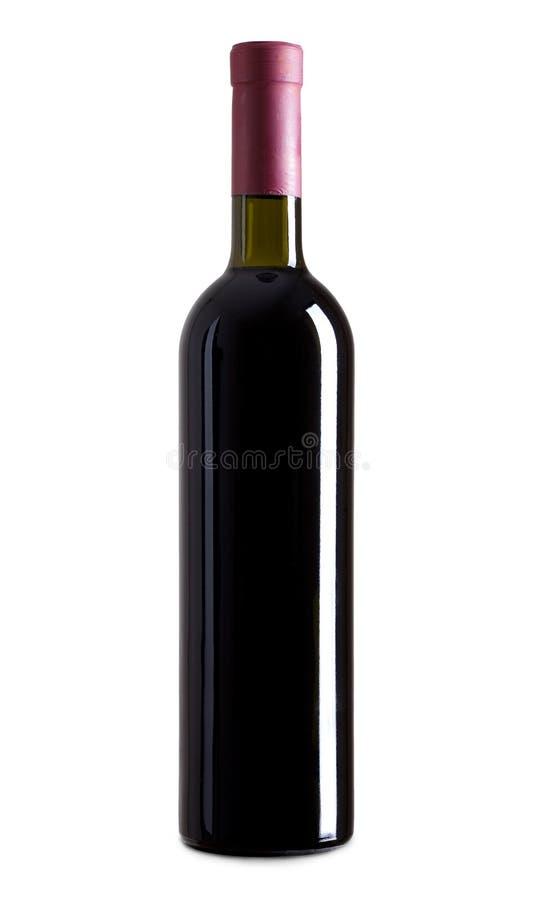 3d butelki wysokiego ilustracyjnego wizerunku czerwony postanowienia wino zdjęcia royalty free