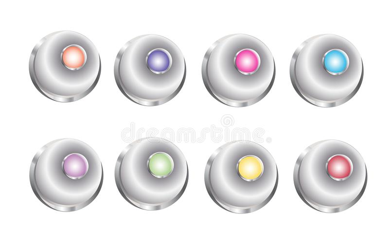 3D Button Bell royalty free illustration