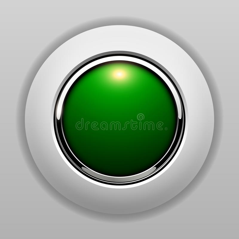 3D button green vector illustration