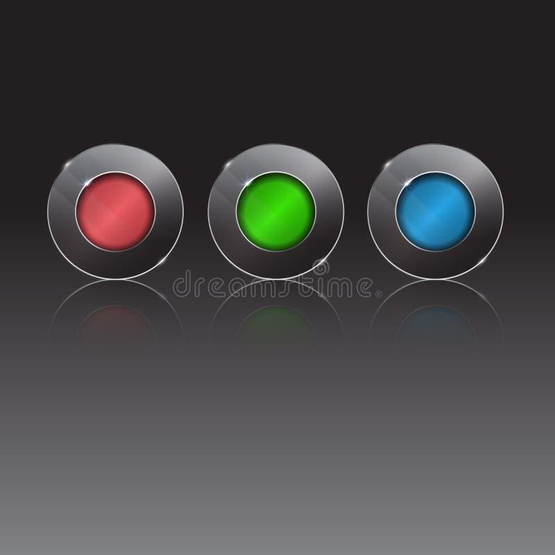 3d buttons den färgrika seten också vektor för coreldrawillustration framstegmomentknapp vektor illustrationer