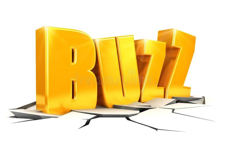 3d buzz concept royalty free illustration