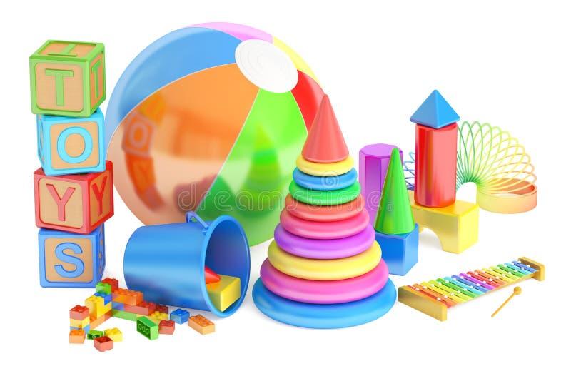 3D caçoa o conceito dos brinquedos ilustração royalty free