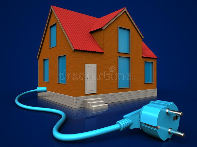 3d cable over dark blue vector illustration