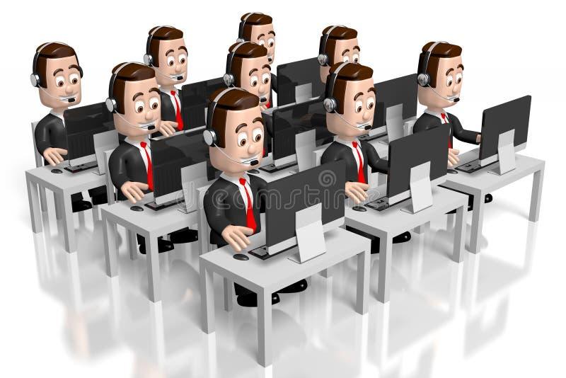 3D call center concept stock illustration